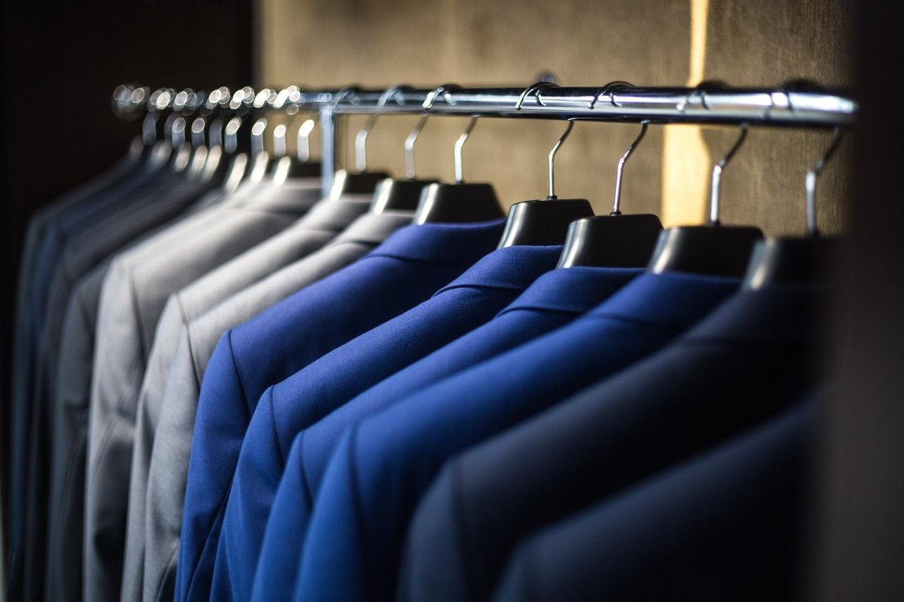 Work shirts on a hanger