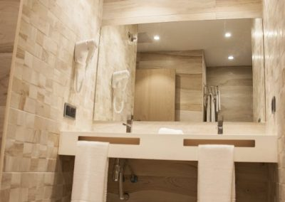 ultra-modern Bathroom Settings, Walk-In shower and Bathroom Amenities.