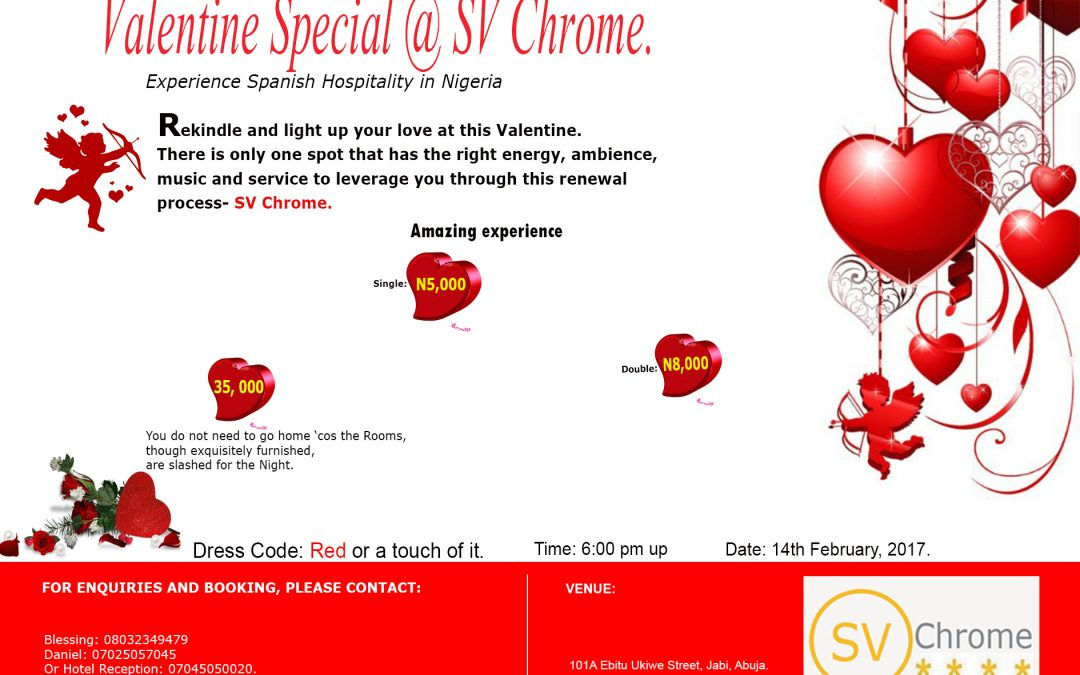 valentine special at sv chrome - Valentine Day Hotel Specials